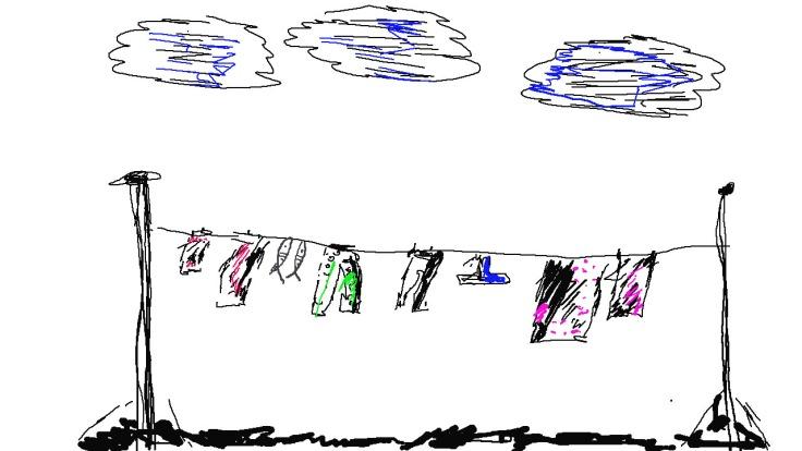 snoek op die wasgoedlyk